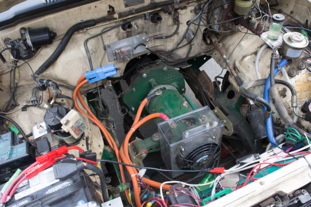 The silent-but-deadly electric motor powering Rich's Toyota pickup.