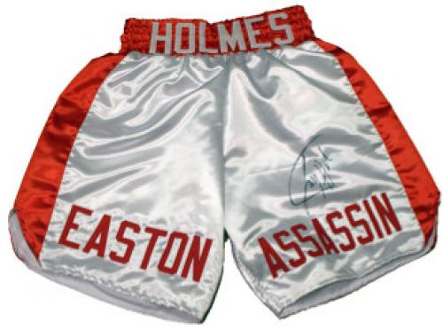 Larry Holmes Signed Robes & Trunks, Autographed Boxing ...