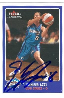 Jennifer Azzi autographed Basketball Card (Utah Starzz ...