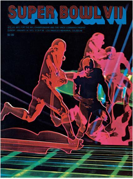 "1973 Dolphins vs Redskins 36"" x 48"" Canvas Super Bowl VII ..."