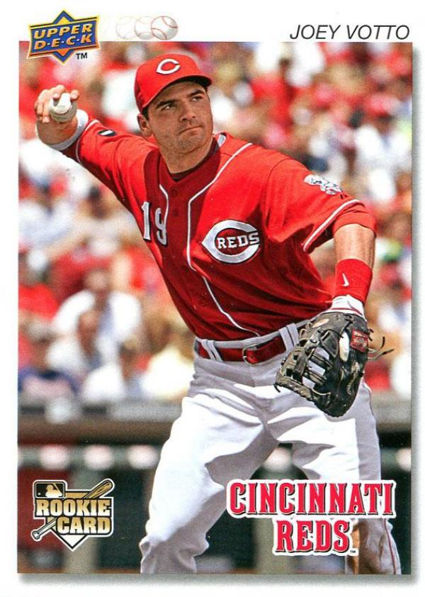 Joey Votto Unsigned 2008 Upper Deck Rookie Card