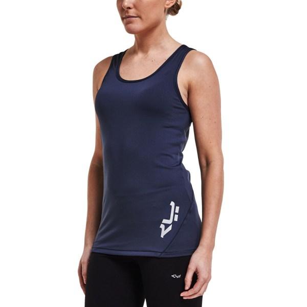 Rohnisch Genna Womens Navy Blue Sleeveless Running Gym ...