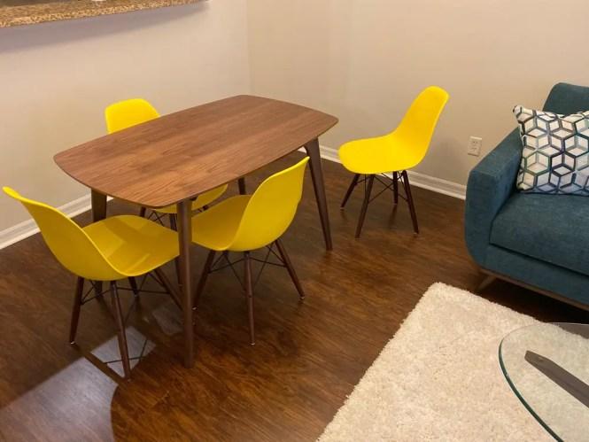 Malain 47 Apartment Size Dining Table Poly Bark