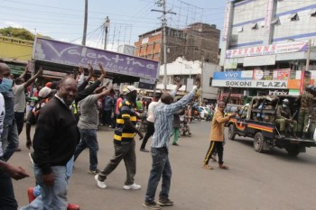 Matatus force their way back to town centre after six months