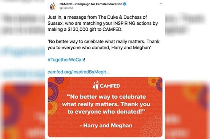 Meghan Markle and Prince Harry donate Sh14 million to charity close to their hearts - Eve Woman