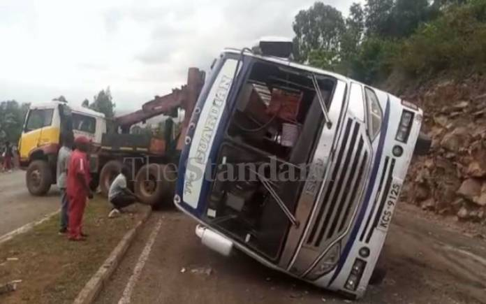 Cbalcladyzmpancpw4Yr607Ef90596991 Two Injured As Molasses Truck Collides With Guardian Bus In Kisumu [Photos]