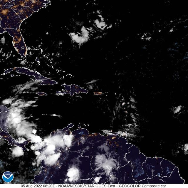 Color imagery from NOAA of the Caribbean