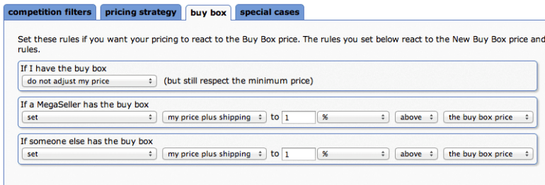 Sellery Amazon Repricer User Interface Preview