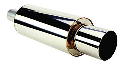 75mm in 94mm ut hks universal stainless hi power muffler 130mm x 230mm