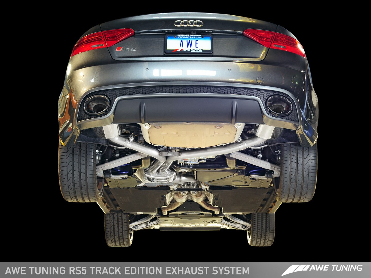 audi rs5 track exhaust system awe tuning