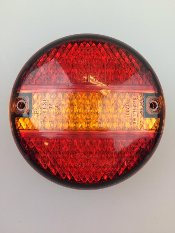 Tail Light LED 3 Chamber Hamburger