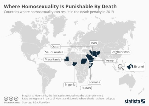 Infographics: where homosexuality is punished by death   Statista