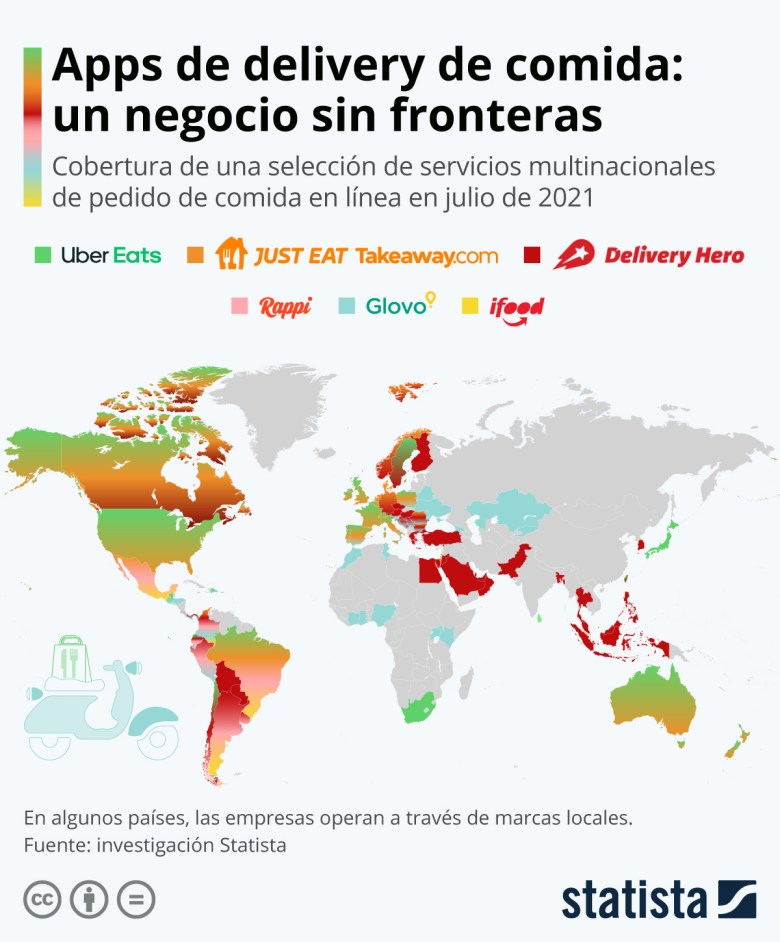 Infografía: Los gigantes del pedido de comida online a la conquista del mundo | Statista