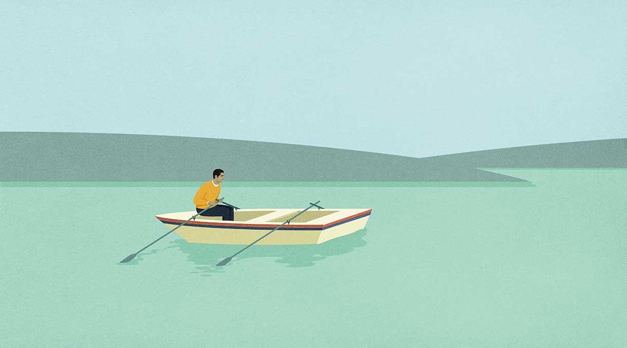 Men adrift