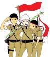 Foto Orang Bawa Bendera Kartun
