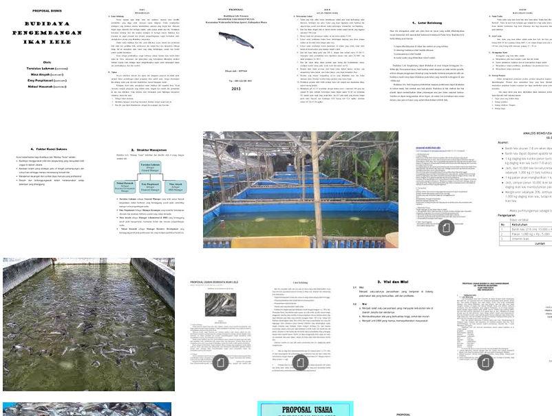 Proposal Usaha Budidaya Ikan Lele Lengkap