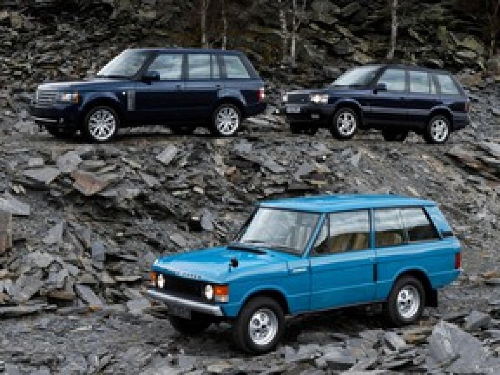 A trio of Land Rover Range Rovers