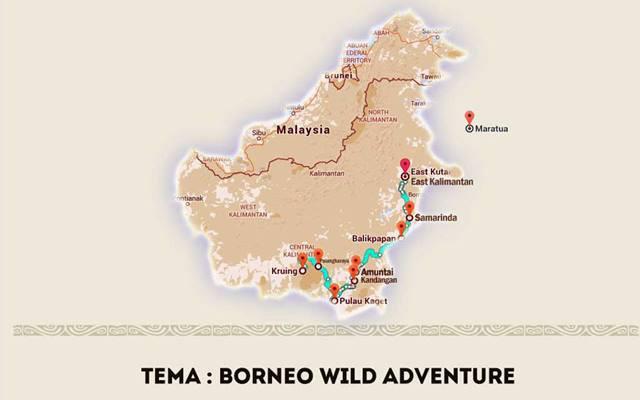Rute perjalanan Terios 7 Wonders Borneo Wild Adventure!