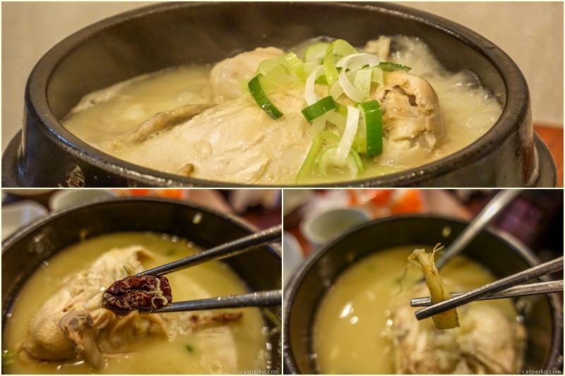 Selain ayam, Gingseng dan Kurma adalah salah satu bahan dari kuliner Korea Selatan Samgyetang ini