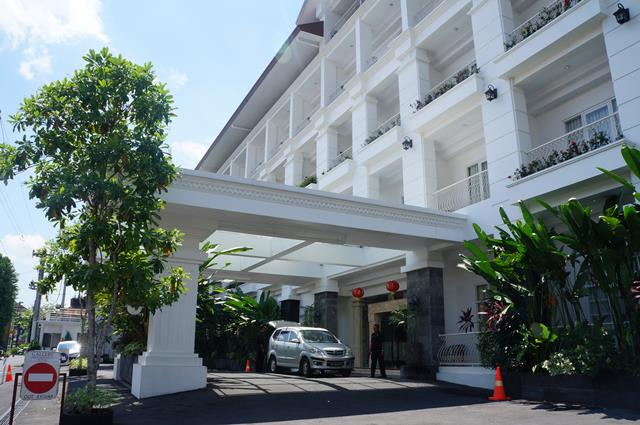 Bagian depan Gallery Prawirotaman Hotel Yogyakarta.