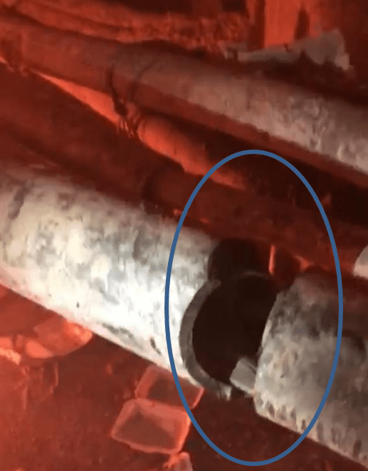 The cut Matang 33kV cables located in the culvert, believed to be an attempt to steal copper yesterday (May 15, 2019).