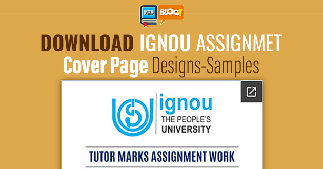 Download Ignou Assignment Front Page Download Fyb Blog