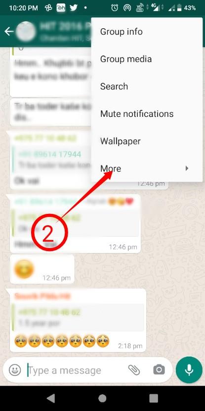 Leave WhatsApp Group