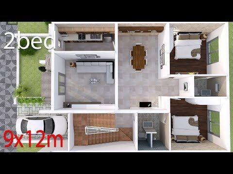 Small House 3 Room House Simple Design