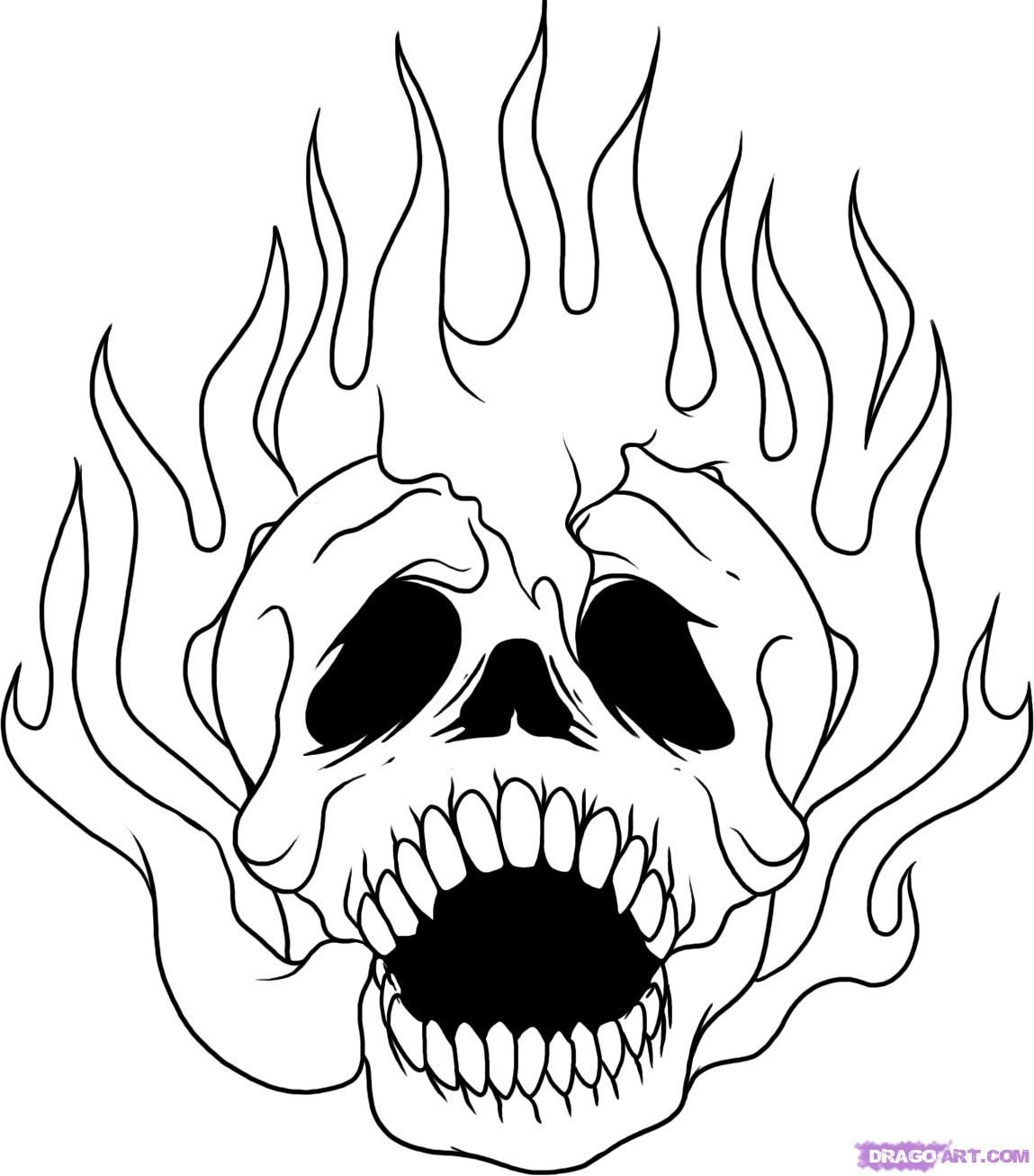 Fire Flame Coloring Page