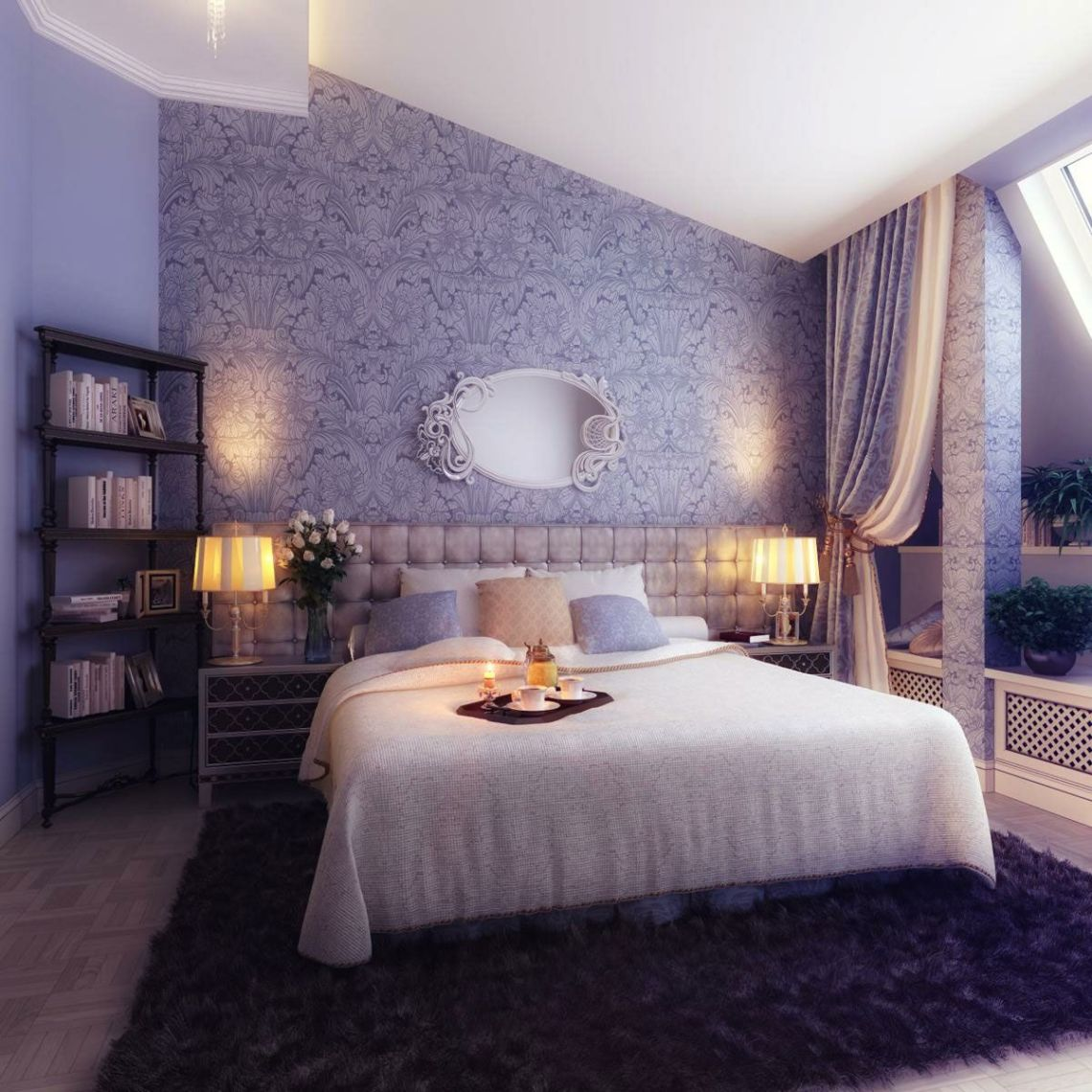 Master Bedroom Romantic Bedroom Wallpaper Designs