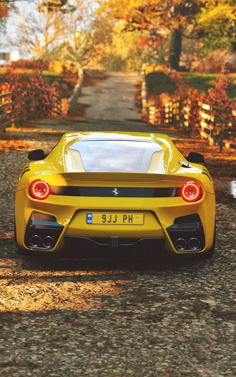 Download high quality 4k car wallpapers of supercars, hyper cars, muscle cars, sports cars, concepts & Yellow Wallpaper Ferrari 488 Pista Wallpaper