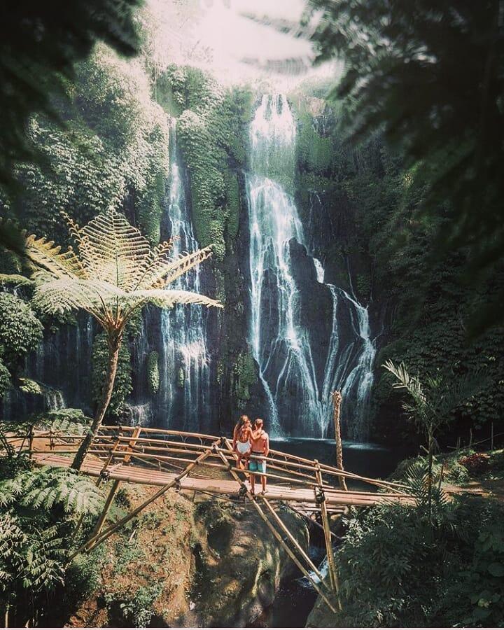 Location of Gitgit Waterfall Singaraja Bali!