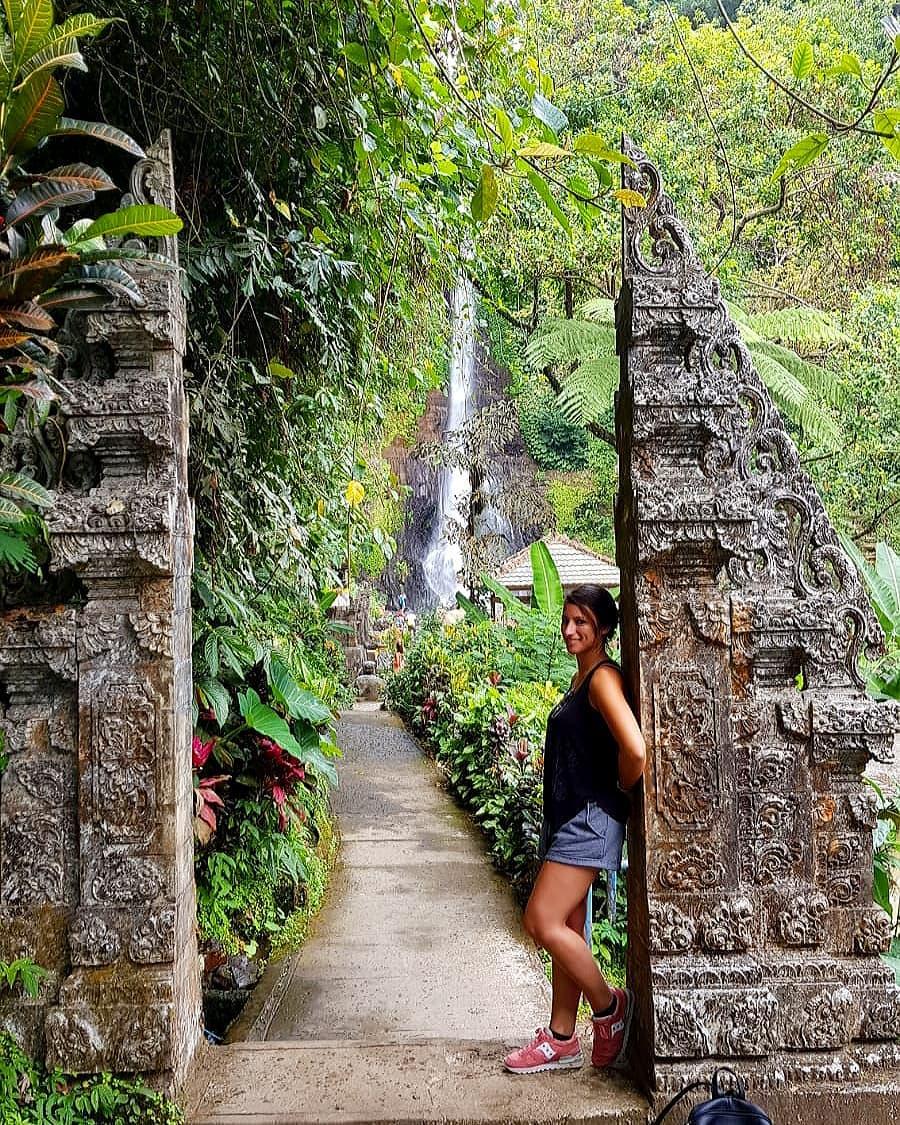 The uniqueness of Bali Git Git Waterfall! via @karen_picc