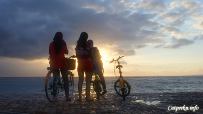 Sanur best visiting time is in the morning, for viewing sunrise