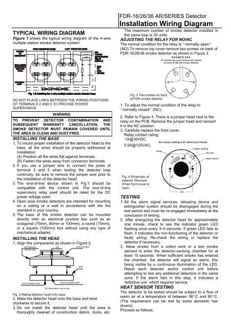 smoke detector wiring diagram