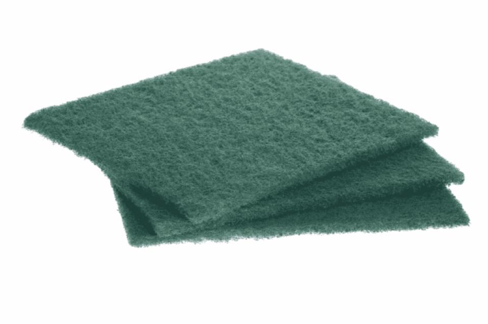 Wipe it down with an abrasive sponge