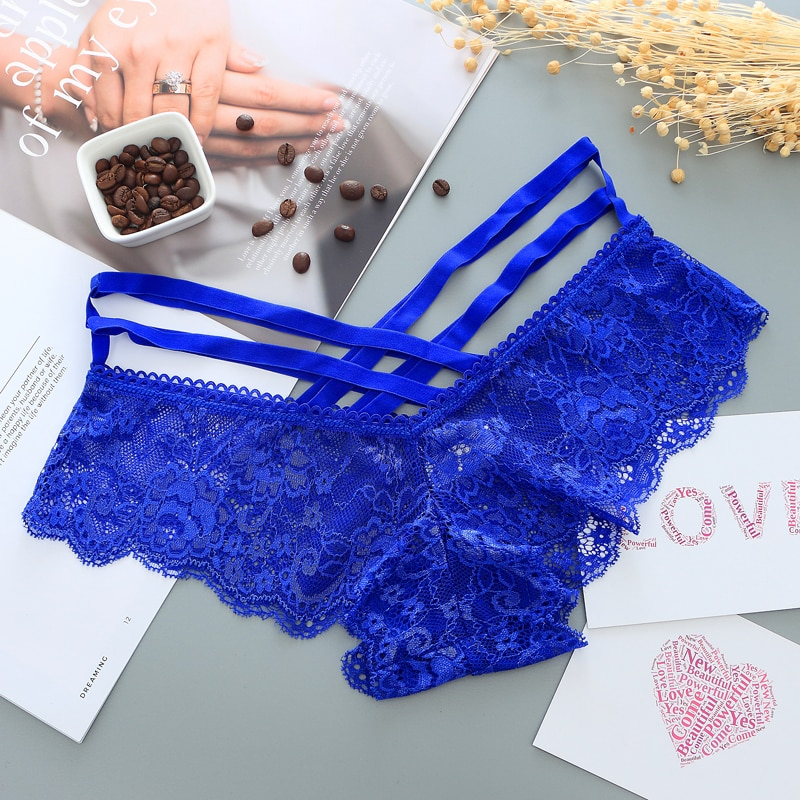 Sexy Low-Rise Panties with Cross Straps