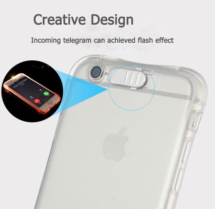 LED Transparent Luminous TPU Case for iPhone