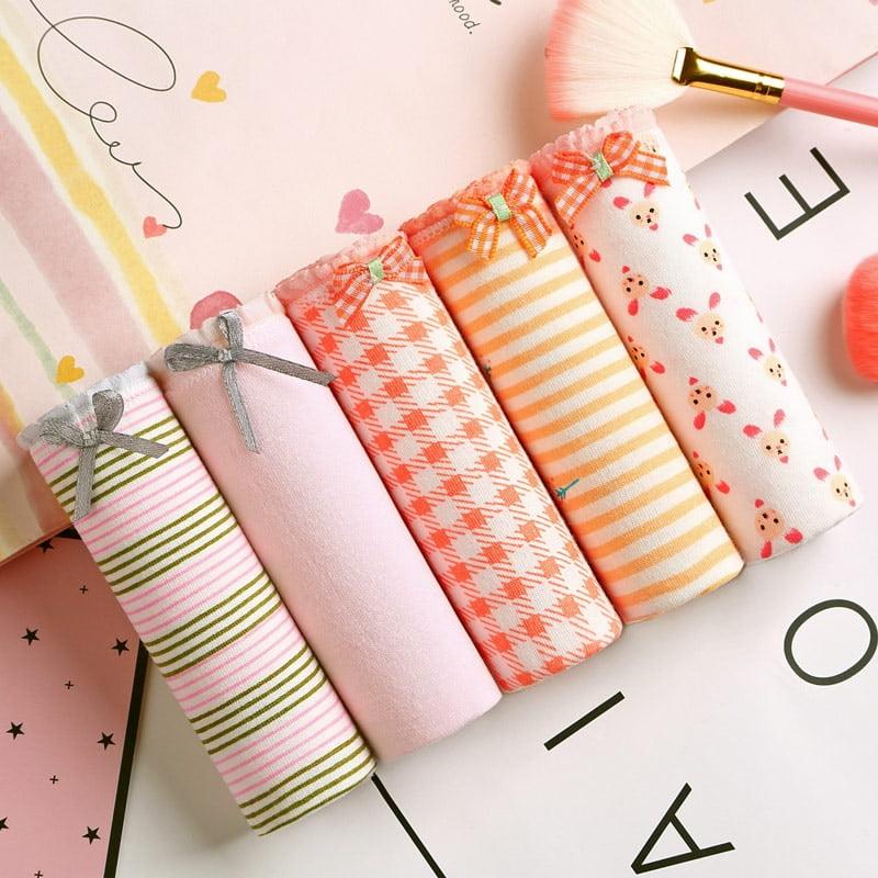 Women's Cute Multipack Panties 5 pcs Set