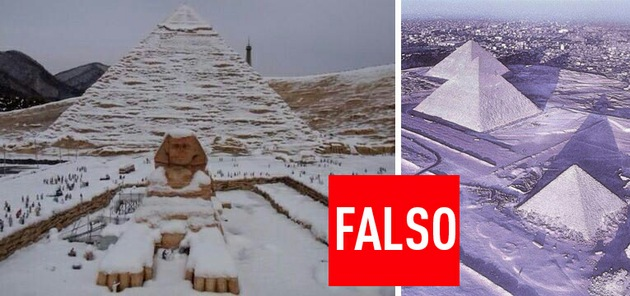 ¿Nieve en Egipto?