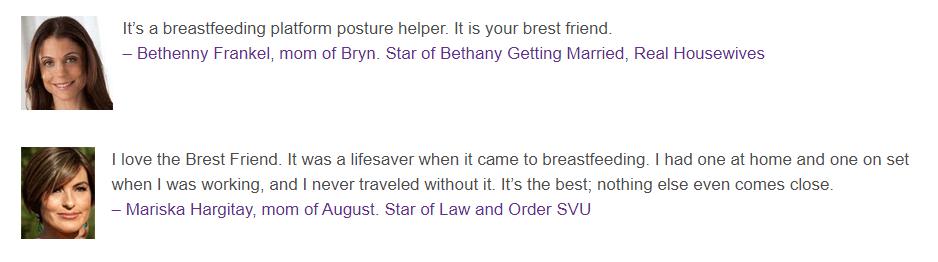 My Brest Friend Nursing Pillow testimonials