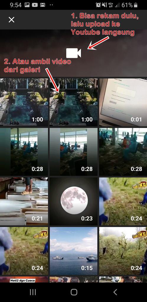 Cara upload video ke Youtube dengan HP Smartphone itu mudah.