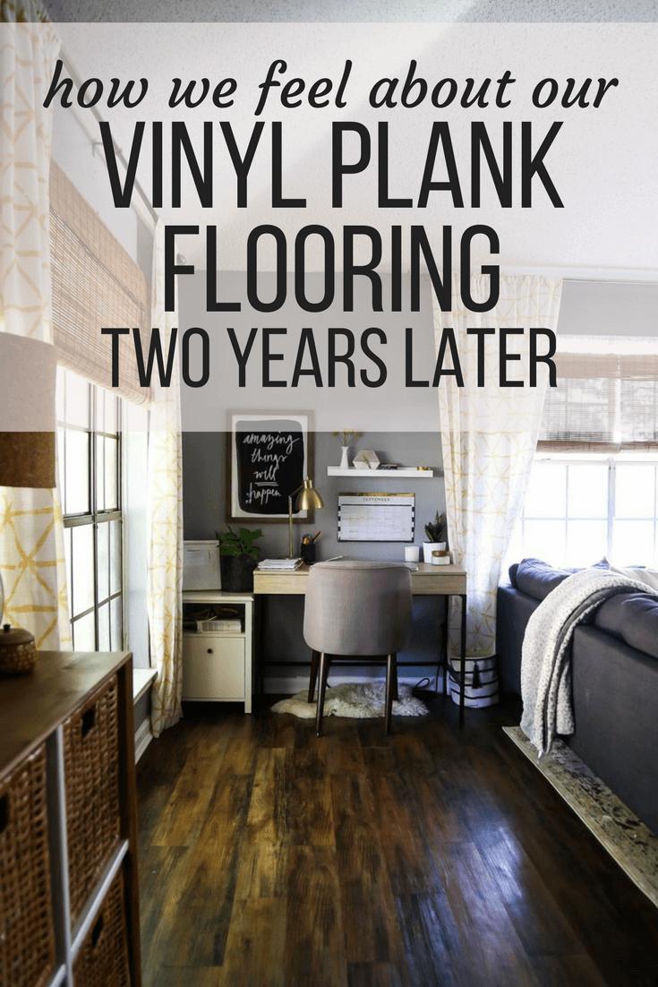 vinyl plank flooring review 2 years