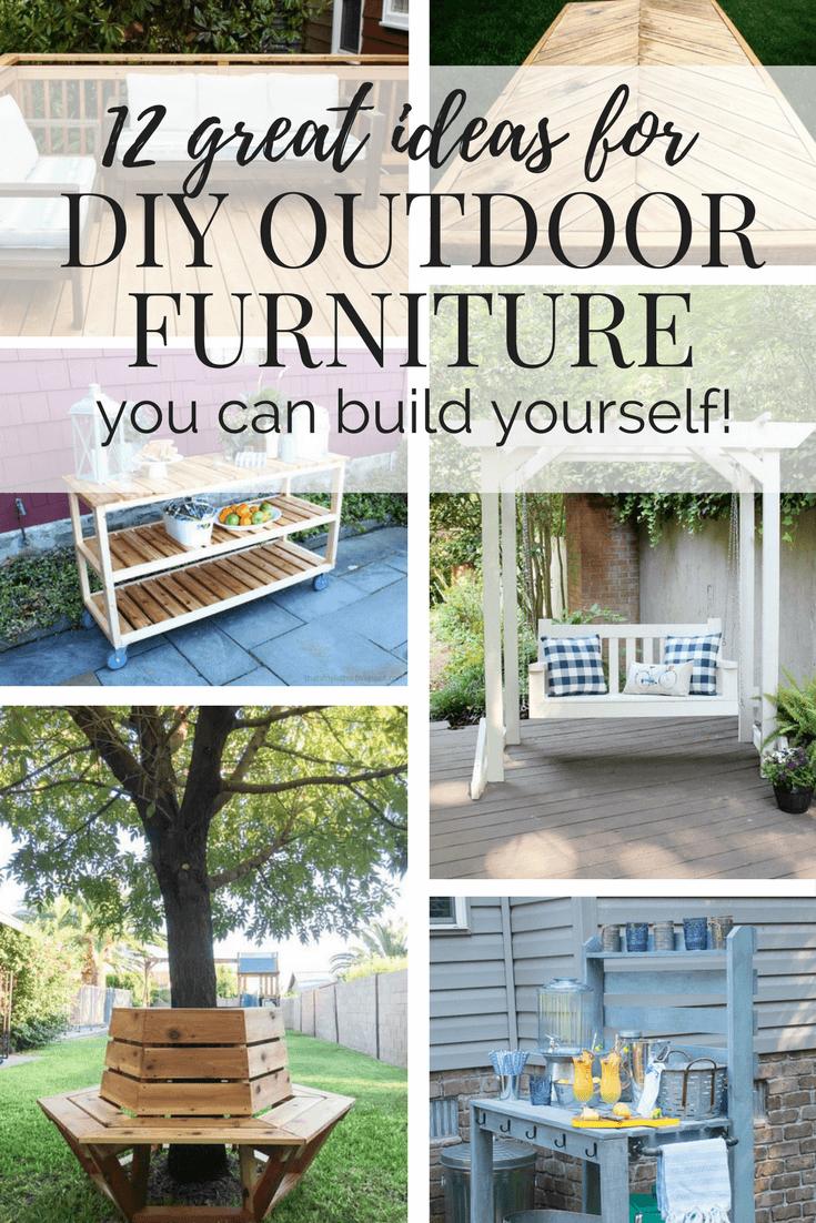diy outdoor furniture 12 great ideas