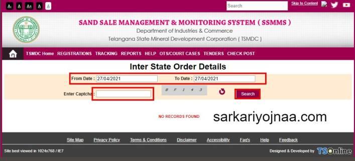 Inter State Order Details SSMMS Portal