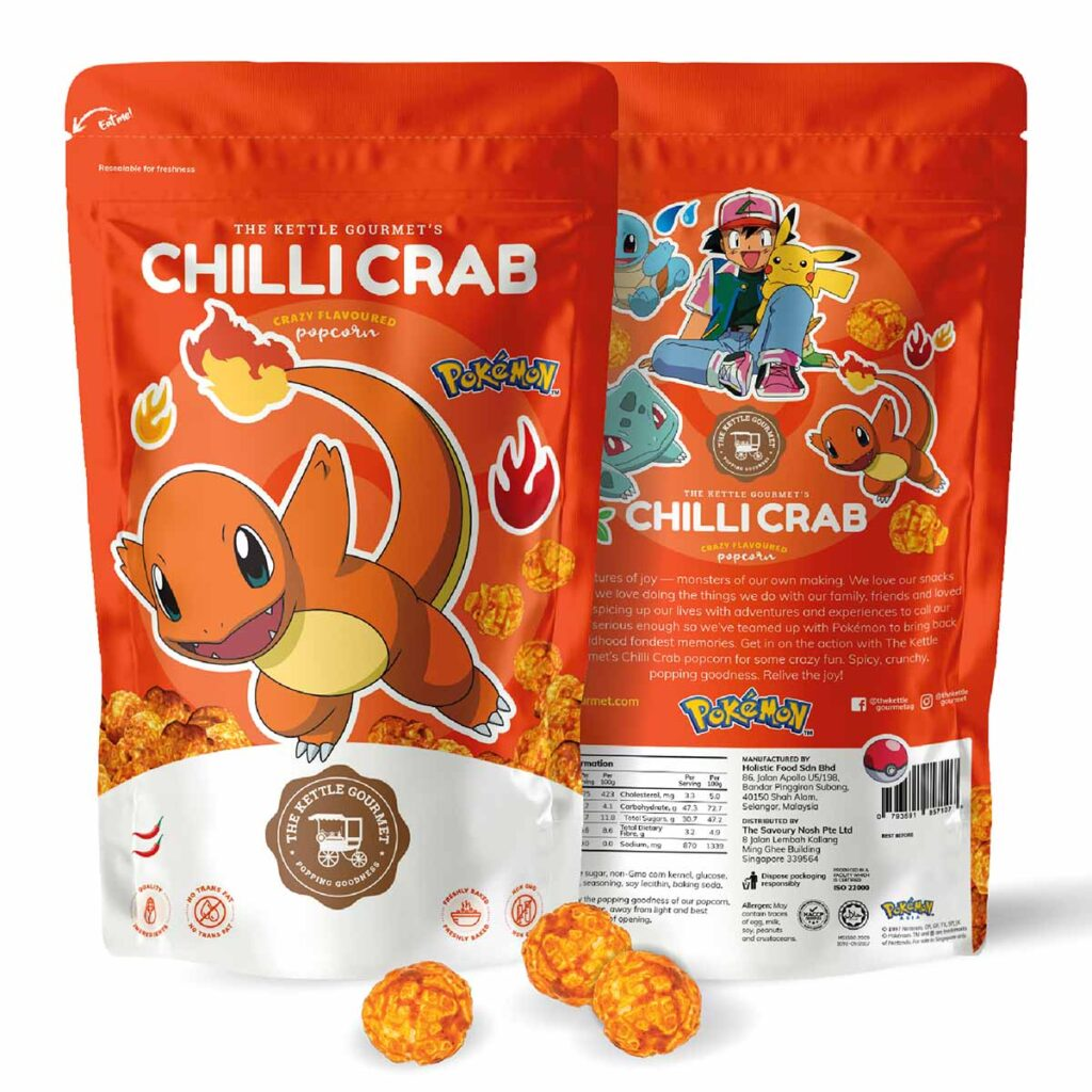 The Kettle Gourmet Chilli Crab Popcorn feat. Charmander
