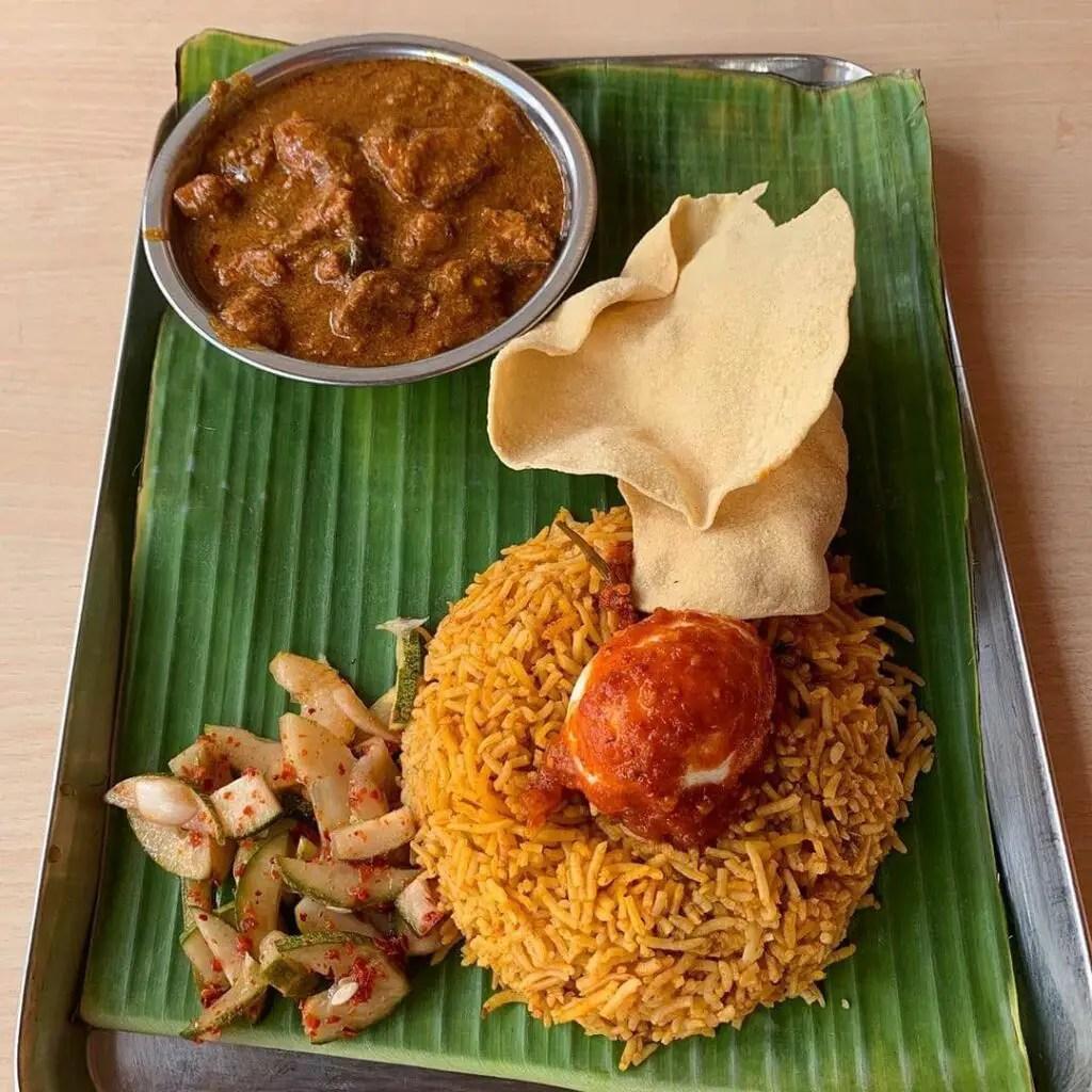 Biryani at Casuarina Curry