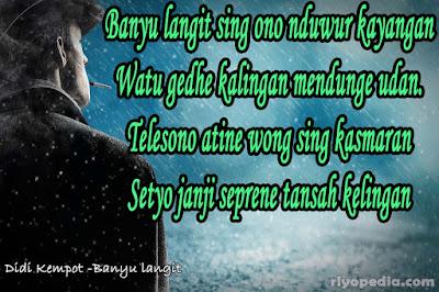 32 Quotes Patah Hati Dari Lirik Lagu Didi Kempot