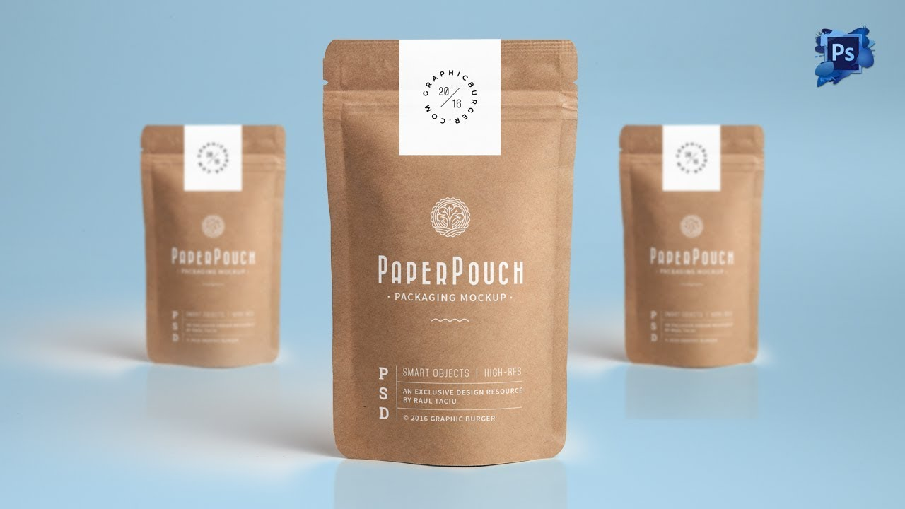 Visit download pagedownload and enjoy this free shopping bag mockup. Graphicburger Paper Pouch Packaging Mockup Paper Pouch Packaging Mockup Photoshop Cs6 Tutorial Youtube Kraft Paper Bag Mockup Halfs