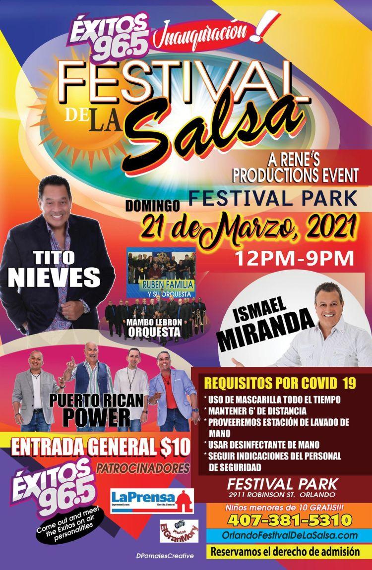 Festival De La Salsa 2021 Tickets AVAILABLE at the event on March 21,  Festival Park, Orlando, 21 March 2021